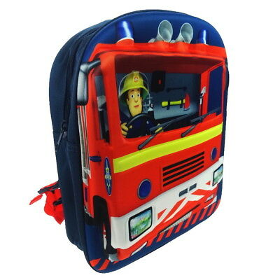 NEW OFFICIAL Fireman Sam Jupiter Boys Kids 3D Backpack Rucksack School Bag