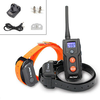 Rechargeable Waterproof LCD Electric Shock Remote 2 Dogs Safe Training Collar
