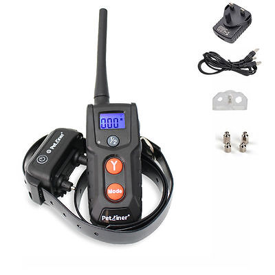 LCD Rechargeable Waterproof Electric Pet Dog Remote Shock Training Collar Aid