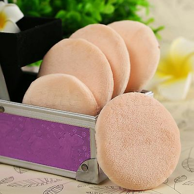 10pcs Soft Velour Sponge Foundation Powder Puff Facial Face Cosmetic Makeup Tool