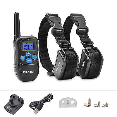 Electric LCD Rechargeable Shock E-Collar Remote Dog Pet Safe Training Collar