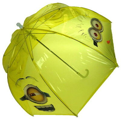 NEW OFFICIAL Despicable Me Minions Boys Girls Kids Bubble Dome Umbrella / Brolly