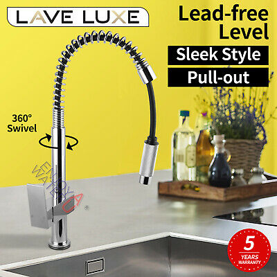 Electroplated Black Brass Kitchen Sink Mixer Tap Swivel Goose Spout Basin Faucet