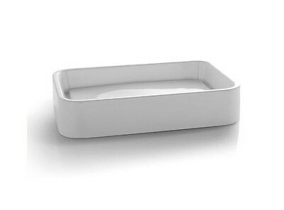 Cielo countertop basins Shui rectangular on top sink with perimetrical discharge