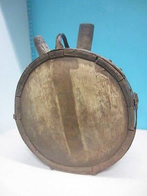 wooden statue wine barrel oak  18th century antique wood carved