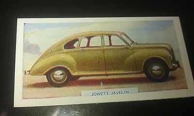 1949 JOWETT JAVELIN  Orig  Colour Swap Card UK