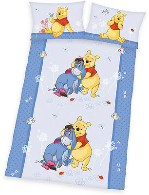 Herding Renforce Kinder-Bettwäsche Disney Winnie Puuh 100 x 135 cm Babybett NEU