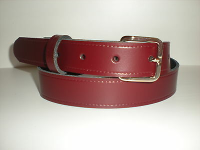 Children's real leather belts in Burgundy