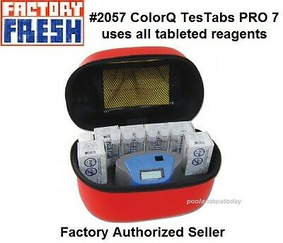 Lamotte 2057 ColorQ TesTabs PRO 7 Pool Photometer Kit Tri  Lingual Instructions