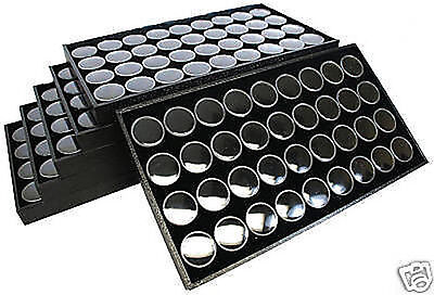 6-36 Gem Jar Tray Black Insert Jewelry Display Gemstone