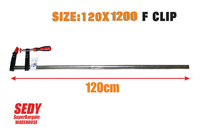 1.2m Super Heavy Duty Large F Clamp Quick Release 120x 1200mm Woodwork Metalwork