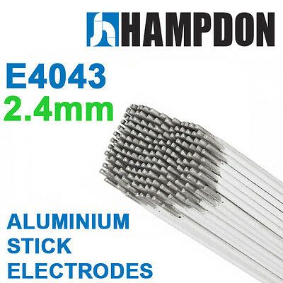 2.4mm x 10 Sticks Aluminium Stick Electrodes Handy Pack – E4043 - ARC - Hampdo