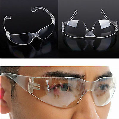 Safety Vented Goggles Glasses Eye Protection Protective Clear Lab Anti Fog Dust