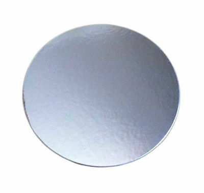 "Cardboard Cake Board Silver Round 3"" 4"" 5"" 6"" 7"" 8"" 9"" inch 5 packs and single"