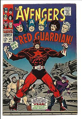 Avengers # 43 (1St. Red Guardian, Aug 1967), Fn+