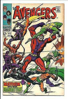 AVENGERS # 55 (1ST. FULL ULTRON APP. AUG 1968), VG/FN [Presents As FN+]