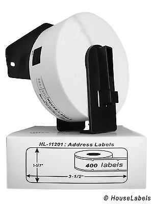 1 Roll DK-1201 Brother-Compatible Labels BPA FREE & 1 Reusable Cartridge