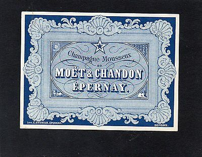 Vieille Lithographie Champagne Moet & Chandon Epernay        §14/11/16§