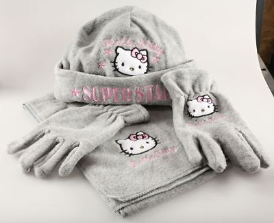 Vêtement Hello Kitty Set Bonnet Echarpe Gants pour bébé Hello Kitty T1 - 52 cm G
