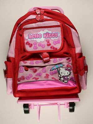 Bagagerie Hello Kitty Trolley Hello Kitty noeud rouge et rose