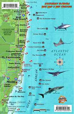 Southeast Florida Dive Map & Coral Reef Creatures Guide Franko Maps Fish Card