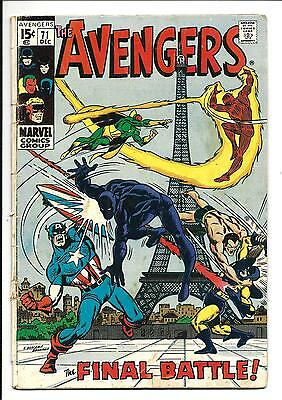 Avengers # 71 (1St App. The Invaders, Dec 1969), Vg-