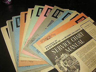 14 x ELECTRICAL & RADIO TRADING Service Chart Manual for RADIO & TV 1956-1963