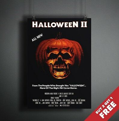 HALLOWEEN 2 II 1981 MOVIE POSTER A3 A4 * Classic Thriller Cult Horror Film Print