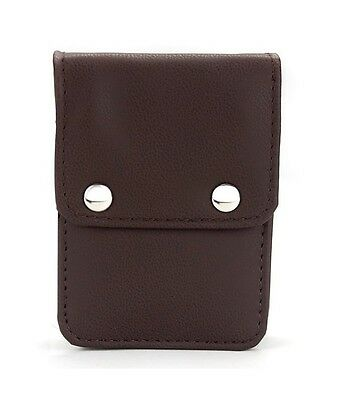 Single Deck Brown Leather Playing Card Case