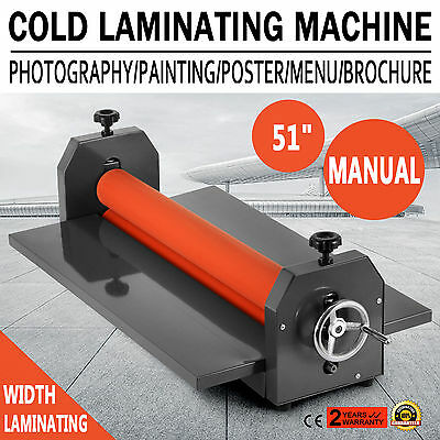 "Roll 51"" 1300mm Manual Cold Laminator Roll Mount Laminating Machine"