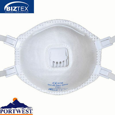 Disposable Valved Face Mask P3 - Valved Dust Mask Box of 10- FREE P&P