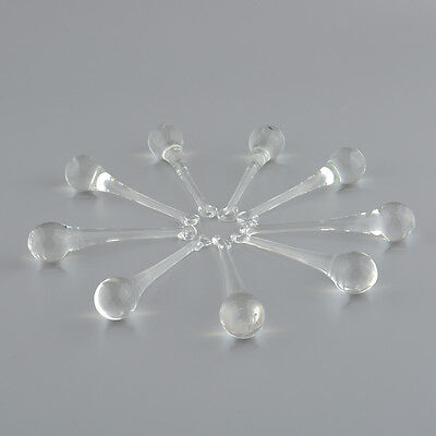 10x Chandelier Lamp Light Drop Pendant Clear Crystal Glass Prisms Party Home