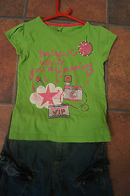 YD TOP & GEORGE JEANS SHORTS SET AGE 7 to 8 YEARS