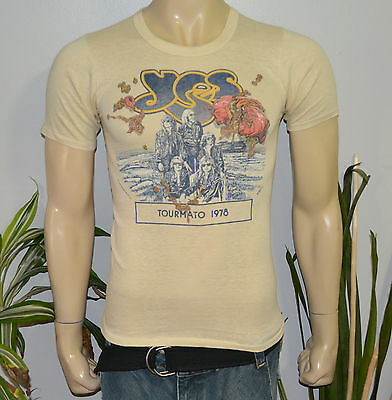 RaRe *1978 YES* vintage rock band concert tour t-shirt (S/M) 70s Jon Anderson