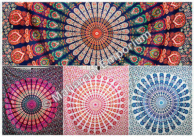 Wholesale Lot of 5 Piece Queen Size Mandala Tapestries Wall Hanging Tapestry Art