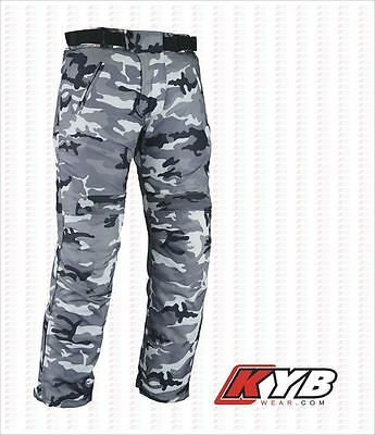Camo Thermal Winter Waterproof Motorbike Motorcycle Textile Trouser CE Armour UK