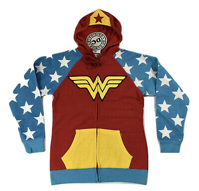 DC Comics Womens Wonder Woman Costume Cosplay Hoodie NWT S