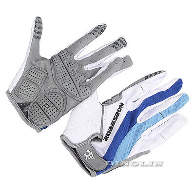 Breathable GEL Full Finger MTB Mountain Bike Riding Cycling Bicycle Sport Gloves