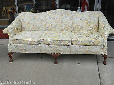 Antique Camel back Chippendale Ball & Claw feet Sofa couch