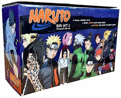 Naruto Box Set 2: 22-48 Complete Children Manga Books Collection Gift Pack