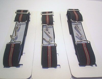 Elasticated Snake Belts  Adults  Green Burgundy & Gold  Stripe