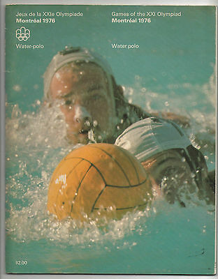 Orig.Complete PRG    Olympic Games MONTREAL 1976  -  WATER POLO  !!   VERY RARE
