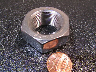 18-8 Stainless Steel, Metric Fine Thread Hex Nuts RH,  M24 x 1.5 Pitch