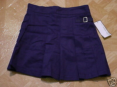 Girls George School Uniform Navy Blue Wrap Pleated Scooter Skirt Size 6