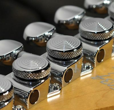 Genuine Korean JINHO locking Tuner 6 in Line Chrome for Fender Strat Tele Guitar