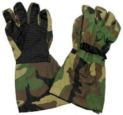 US Army Outdoor Goretex Woodland Camouflage Finger Gloves Gloves L / Large