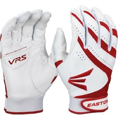 1 Pair Easton HF VRS Adult X-Small White / Red Fastpitch Womens Batting Gloves