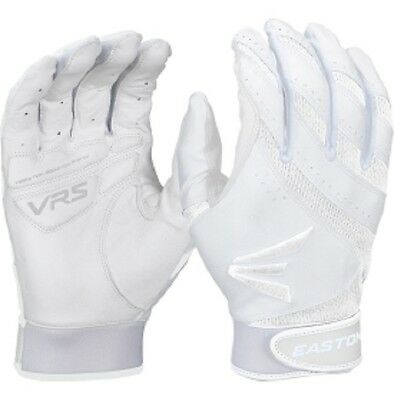 1 Pair Easton HF VRS Adult Small White / White Fastpitch Womens Batting Gloves