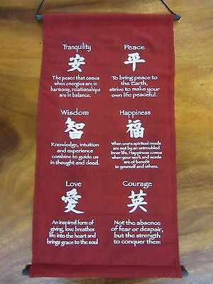 Mini Inspirational Affirmation Wall Hanger Scroll Banner Burgundy