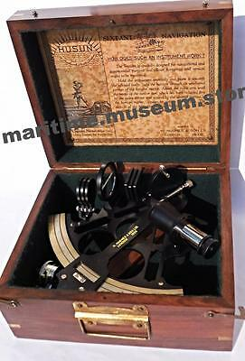 8'' Royal British Admiral's Sextant Micrometer Drum Readout/Best Christmas Gift.